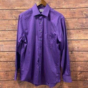 Van Heusen Long Sleeve Dress Shirt Purple